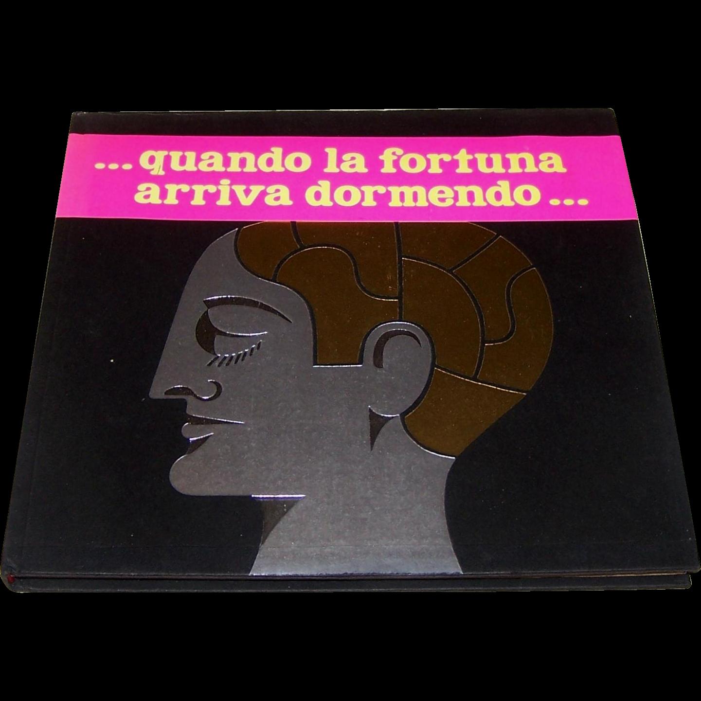 """Umberto Zanasi (ed.), """"Il Sognasoldi –quando la fortuna arriva dormendo"""" Book, Zanasi Editore Publisher, 1966"""