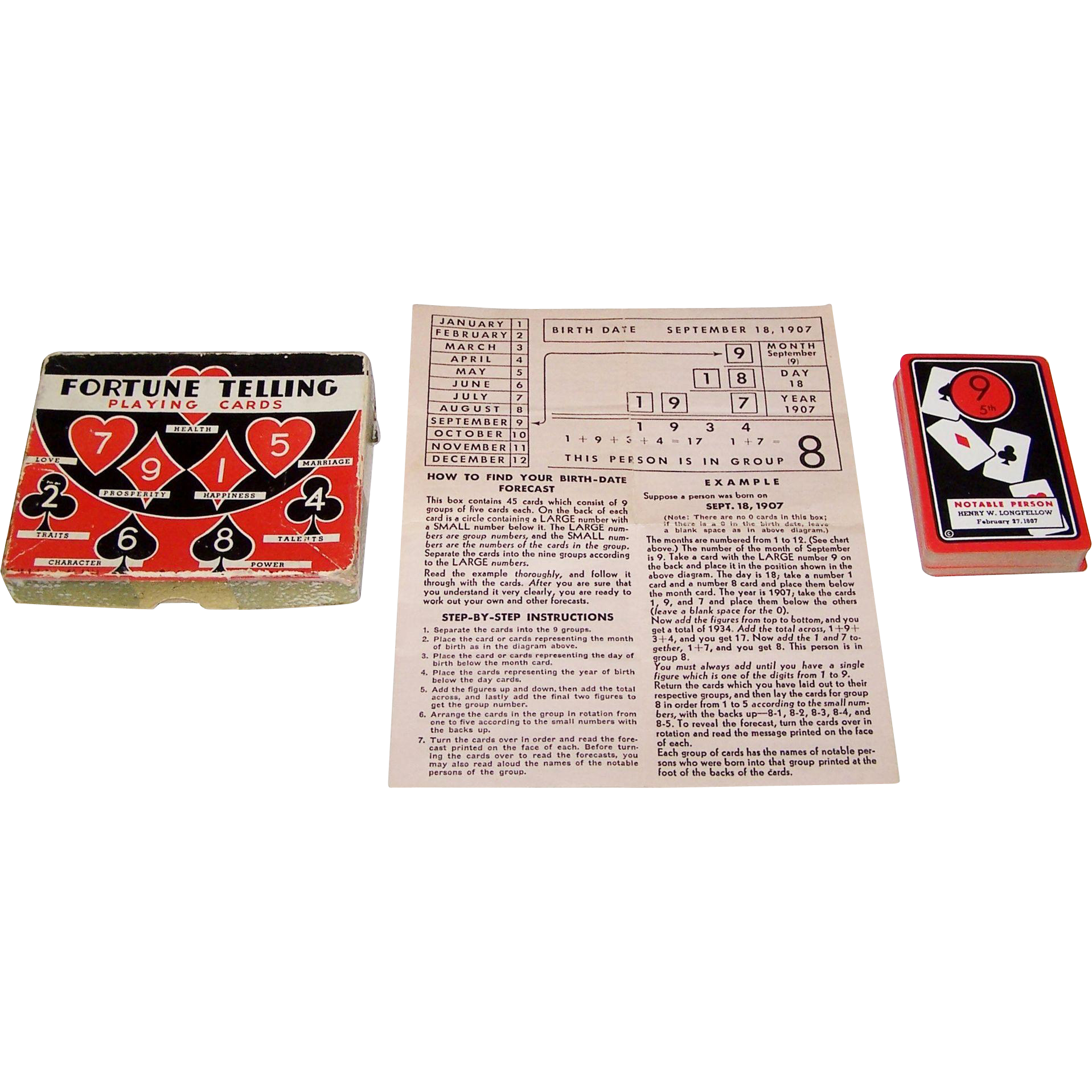 "Whitman ""Fortune Telling Playing Cards,"" c.1936"