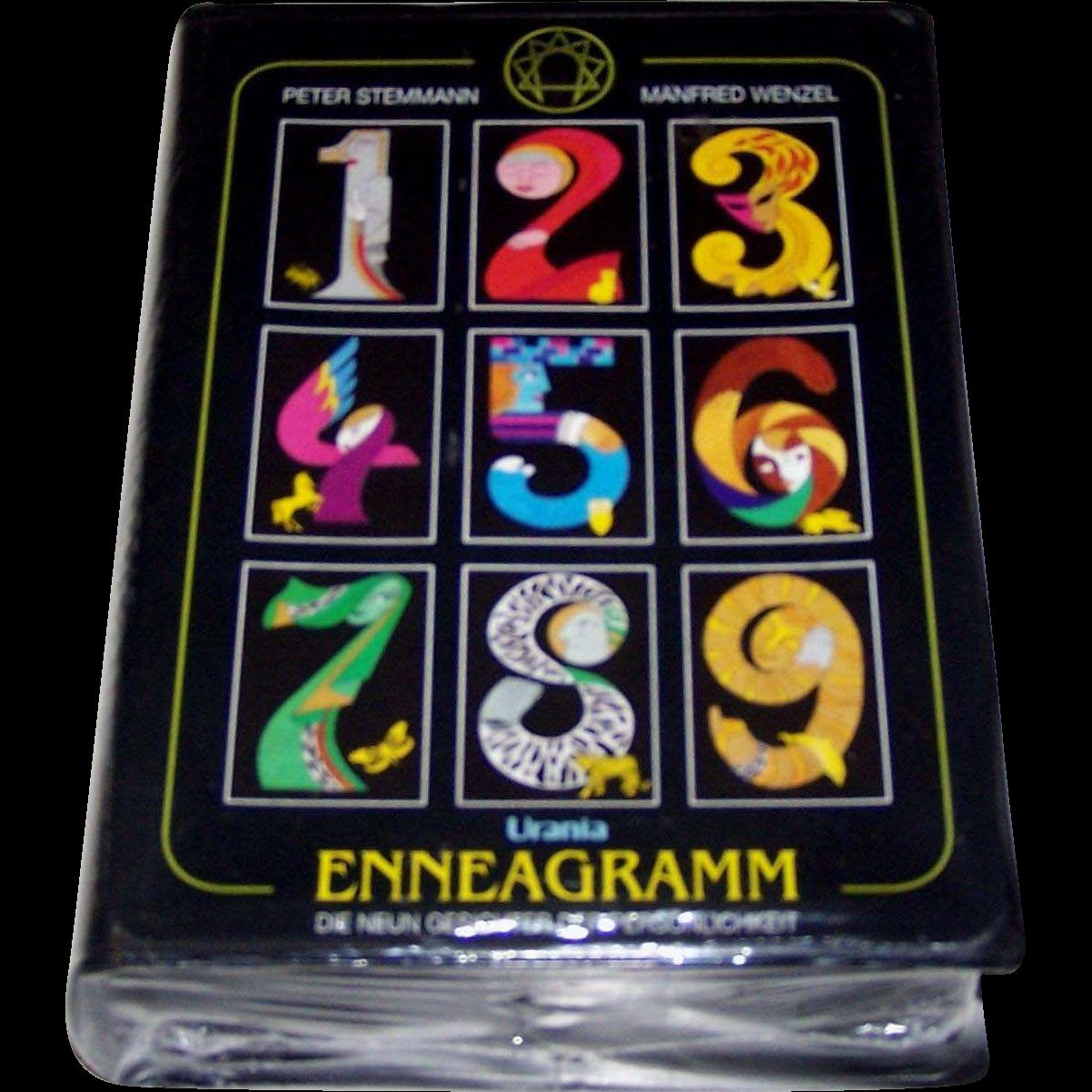 """Urania """"Enneagramm"""" (""""Enneagram"""") Set, """"Die Neun Gesichter der Personlichkeit"""" (""""The Nine Faces of Personality""""), Cards and Handbook, 1999"""
