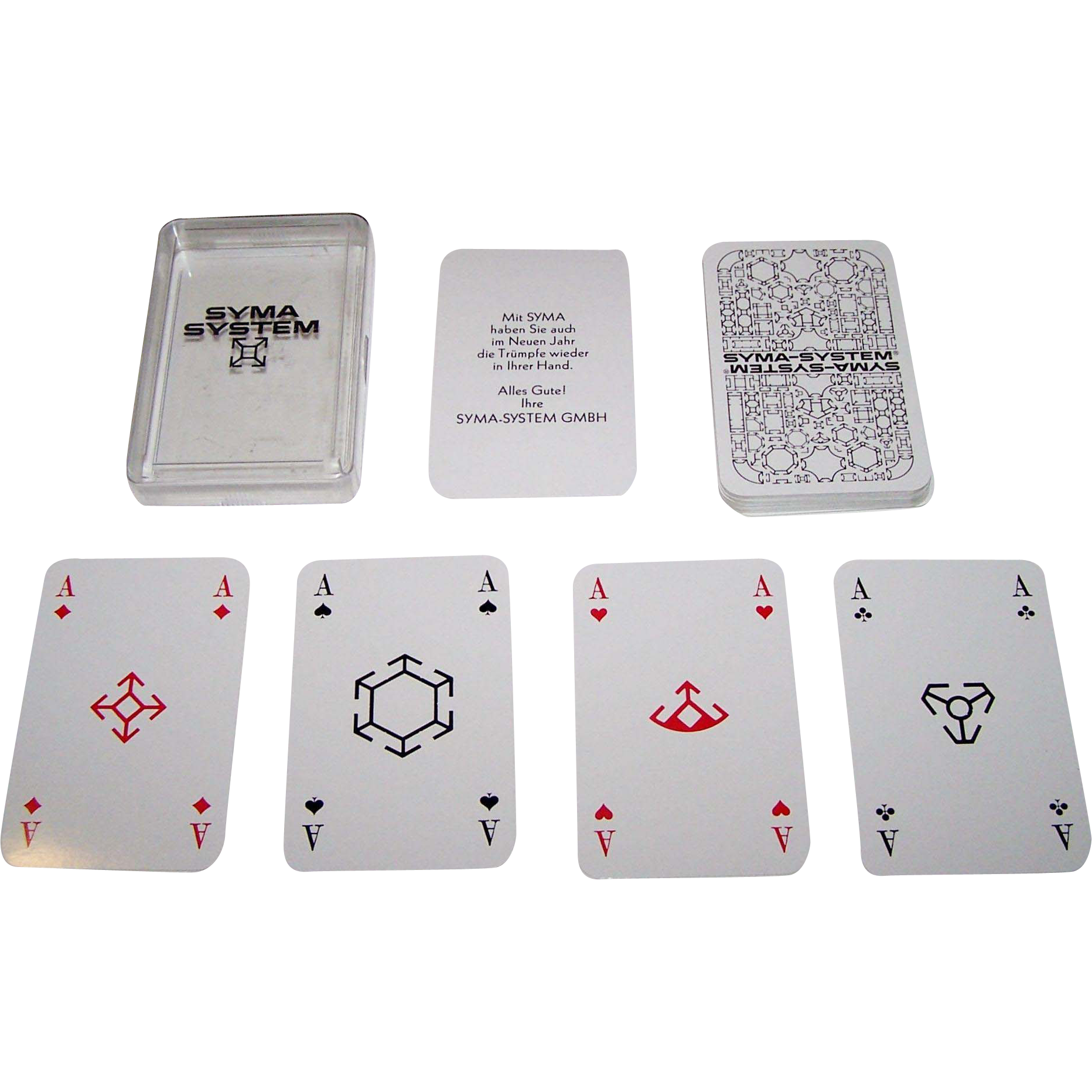 "ASS ""Syma-System"" Skat Playing Cards, ""Semi-Transformation"" Features, Modular Pips, c.1973"