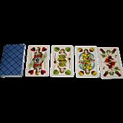 """Altenburger Spielkartenfabrik """"Preussisches Doppelbild"""" (""""Prussian Double Ended"""") Playing Cards, c.1890"""
