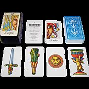 """Il Meneghello """"Il Tarocchino di Osvaldo Menegazzi"""" (""""The Little Menegazzi Tarot"""") Tarot Cards, Osvaldo Menegazzi Designs, First Edition, c. 1978"""