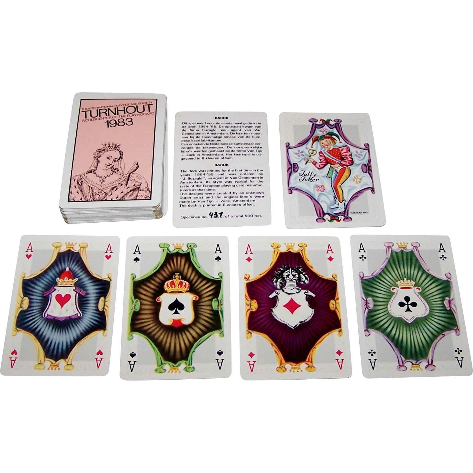 "Carta Mundi ""Barok"" Playing Cards, IPCS Limited Edition (437/500), 1983"