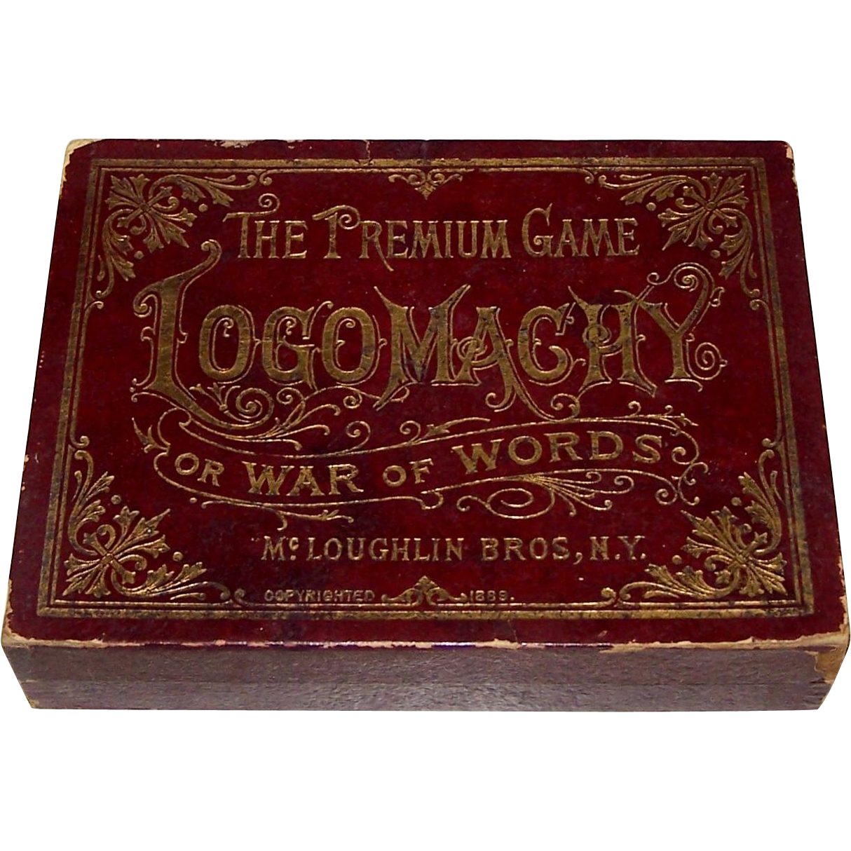 "McLoughlin Bros. ""Logomachy or War of Words"" Game, c.1889"