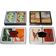"4 Double Decks Australia Playing Cards, $10/ea.: (i) Playing Cards of Australia, ""Australian Birds""; (ii) Spicers ""Great Australian Paintings – The Heidelberg School""; (iii) Queens Slipper ""Australian Bird, Kangaroos""; and (iv) So. Cross ""Aboriginal"