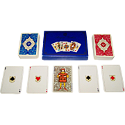 """Double Deck ASS """"Royal Gothic"""" Playing Cards, Discovery Toys Publisher, Dondorf Centennial, c.1975"""