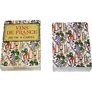 "Grimaud ""Vins de France"" Playing Cards, Gilles Sacksick Designs, c.1991"