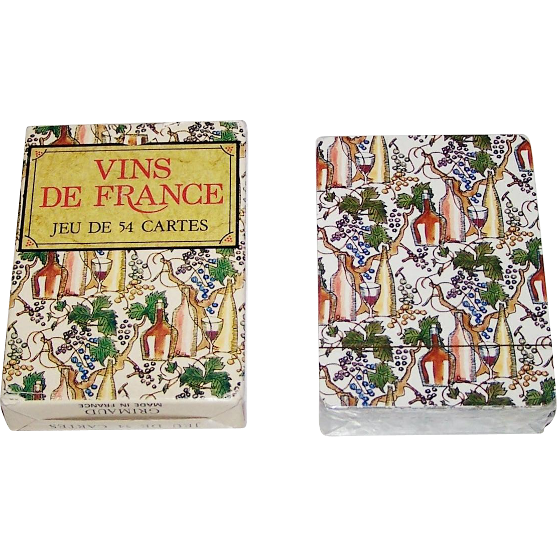 "Grimaud ""Vins de France"" Playing Cards, Gilles Sacksick Designs, c.1991"
