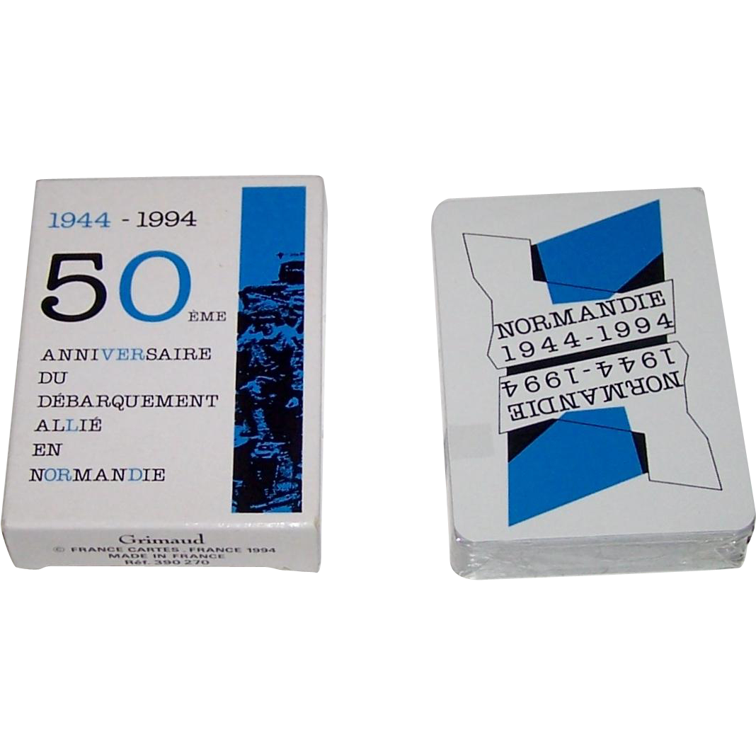 "Grimaud ""Normandie 1944-1994"" Playing Cards, Yannick Pennanguer Designs, c.1994"