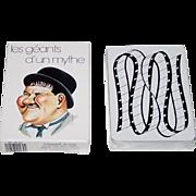 """Grimaud """"les géants d'un mythe"""" Playing Cards, François Poulain Designs, c. 1983"""