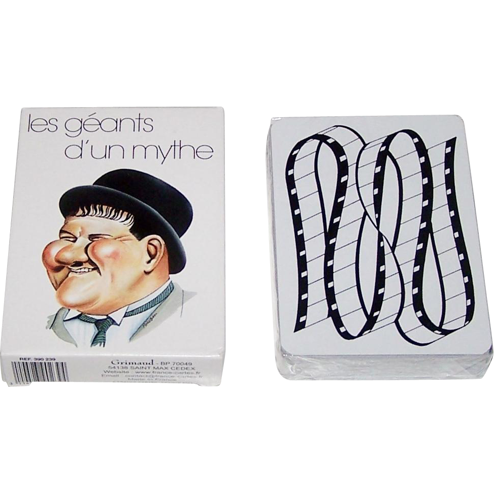 "Grimaud ""les géants d'un mythe"" Playing Cards, François Poulain Designs, c. 1983"