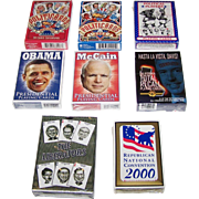 8 Decks U.S. Political Playing Cards, $10/ea.