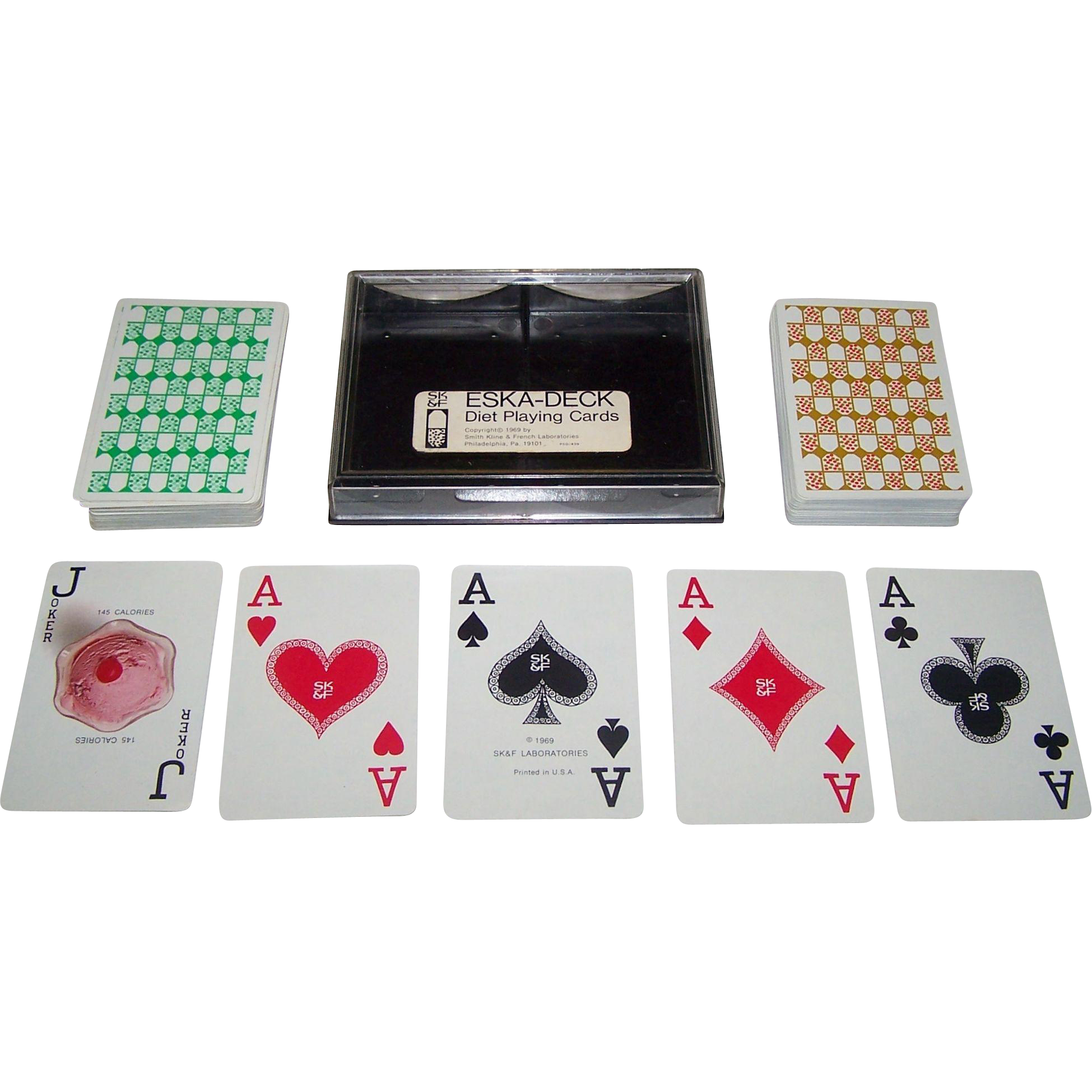 "Double Deck Arrco ""Eska-Deck"" Playing Cards, c.1969"
