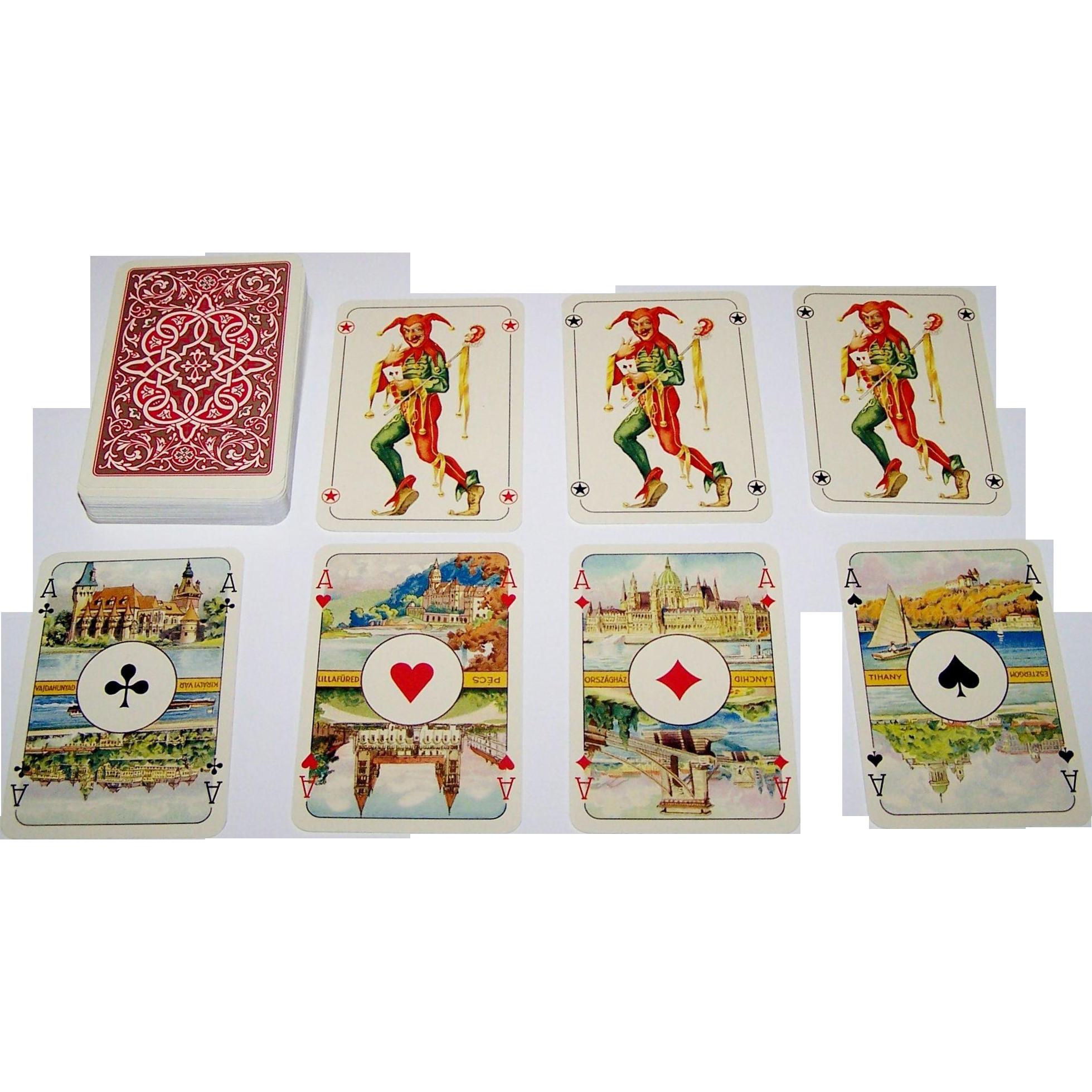 """Offset es Jatekkartya Nyomda """"Magyar Kiralyok"""" (""""Hungarian Kings"""") Playing Cards"""
