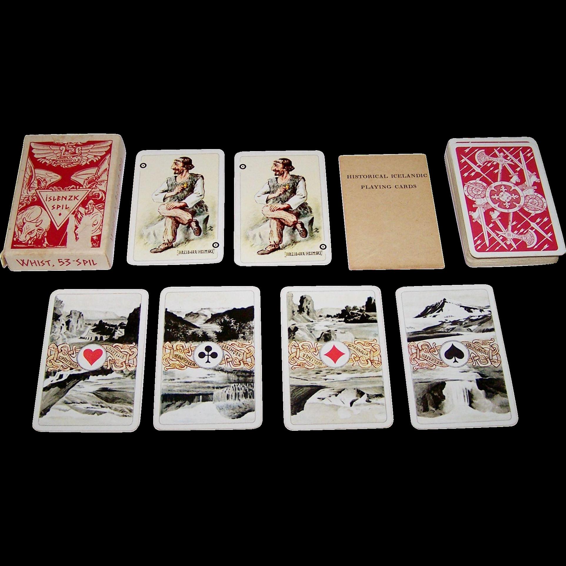 "Icelandic ""Islenzk Spil"" (Originally, ""Fornmannaspilin"" --""Historical Icelandic Playing Cards""), c.1964"