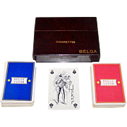 "Double Deck Van Genechten ""Belga"" Playing Cards, Belga Cigarettes, c.1940s"