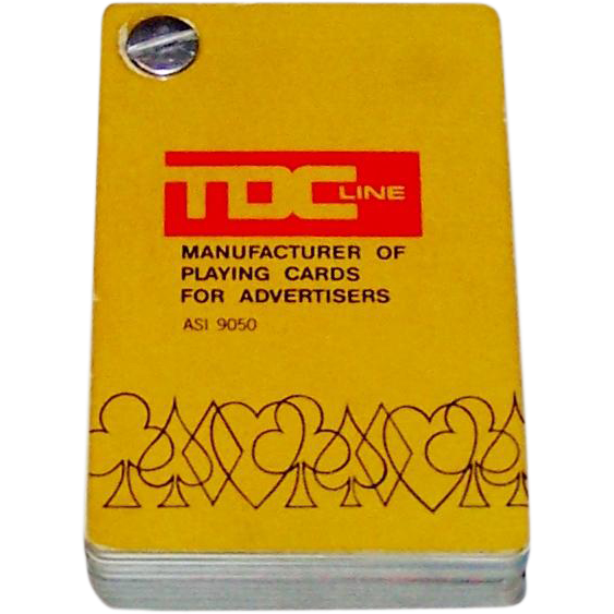 "TDC ""Salesman Sample Deck,"" Advertising Cards, c. 1980"