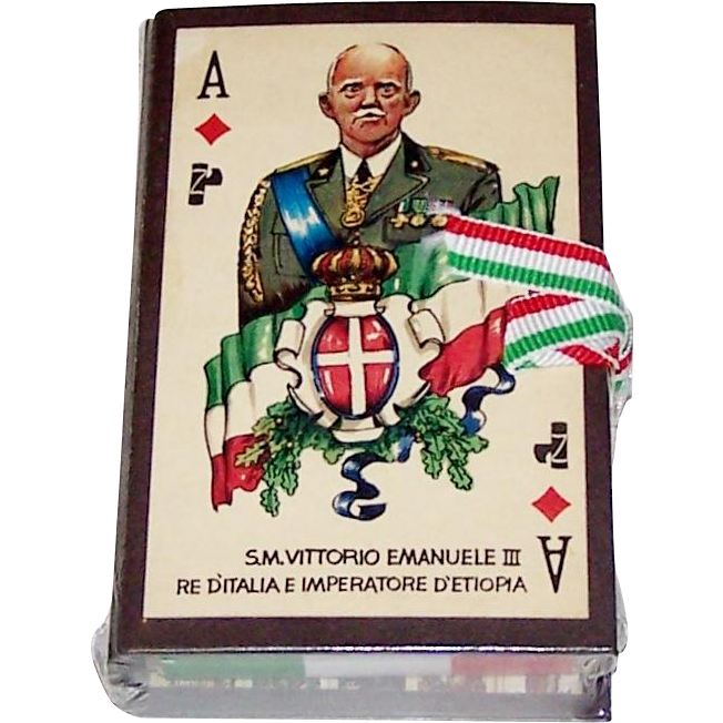 "Il Meneghello ""50° Fondazione dell 'Impero"" Playing Cards, Ltd. Ed. (¬¬¬___/2,000),  c.1986"