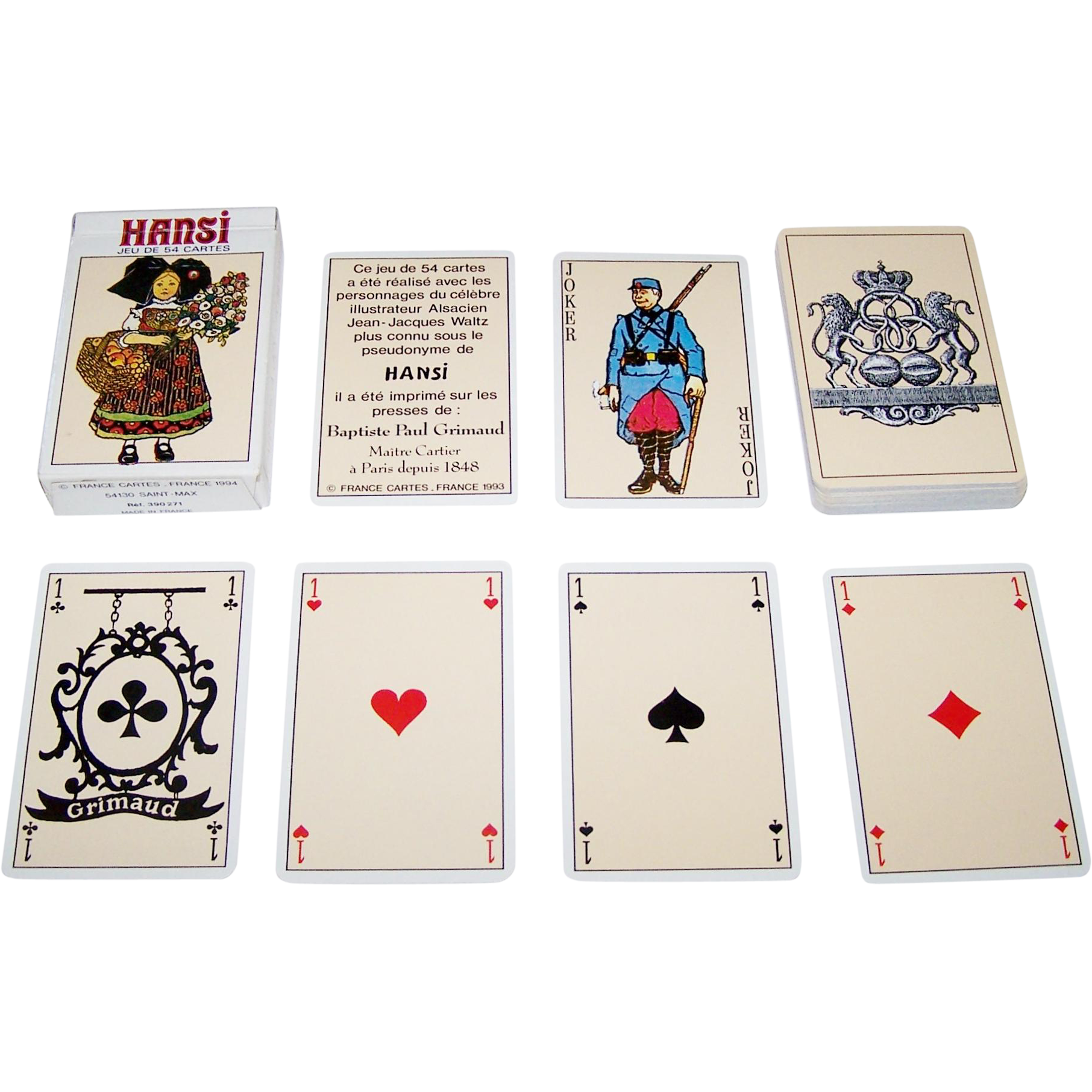 "Grimaud ""Hansi"" Playing Cards, Jean-Jacques Waltz (""Hansi"") Designs, c.1993"