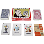 "Double Deck ASS ""Loriot"" Playing Cards, Vicco von Bülow (aka ""Loriot"") Designs, c.1973"