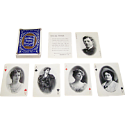 """USPC """"Craddock Soap"""" Stage Stars Playing Cards, c.1895"""