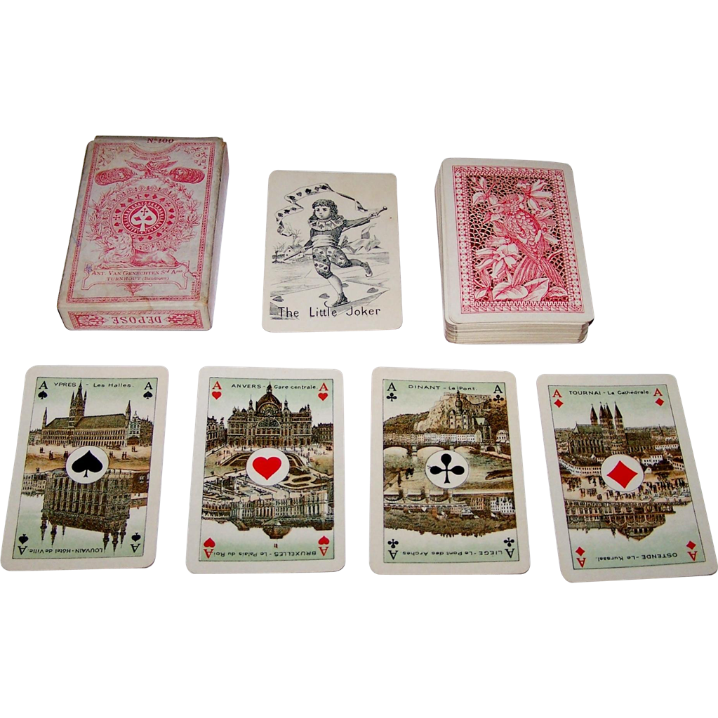 "Van Genechten ""No. 100"" Playing Cards, Dutch/Flemish Pattern, c.1910"