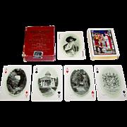 "USPC ""Virginia Souvenir Playing Cards,"" Old Dominion Paper Company Publisher, Jamestown Exposition Souvenir Cards, ""Baptism of Pocahontas"" Backs, c.1906"