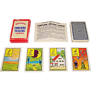 """Whitman """"Old Gypsy"""" Fortune Telling Cards, c.1940"""