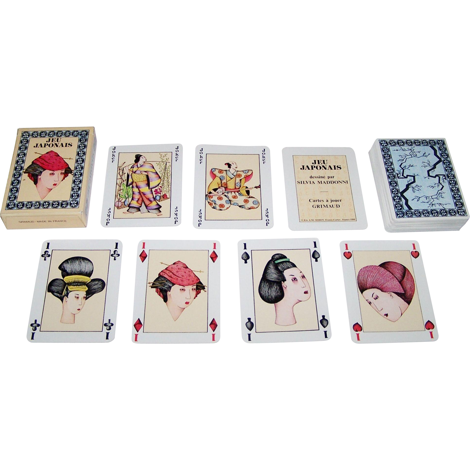 "Grimaud ""Jeu Japonais"" Playing Cards, Silvia Maddonni Designs, c.1981"
