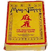 "Continental Mah-Jongg Sales Co. ""Mah-Jongg"" Card Game, c.1930-1935"