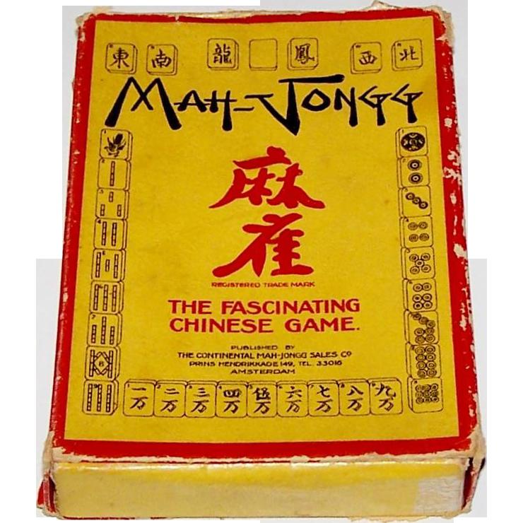 """Continental Mah-Jongg Sales Co. """"Mah-Jongg"""" Card Game, c.1930-1935"""
