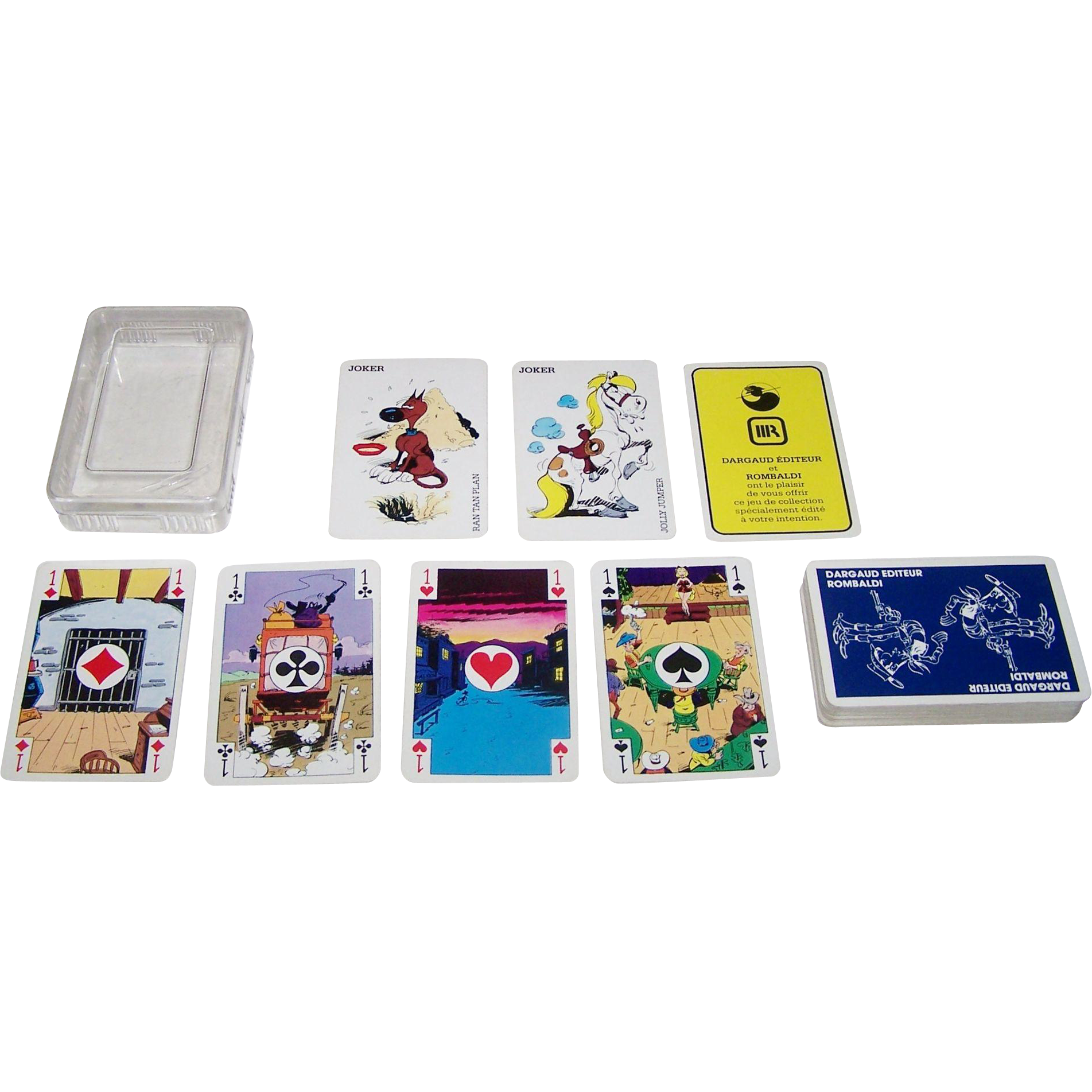 "Boechat Freres ""Lucky Luke"" Playing Cards, Dargaud Publisher, Maurice de Bevere (aka ""Morris"") Designs, c.1981."