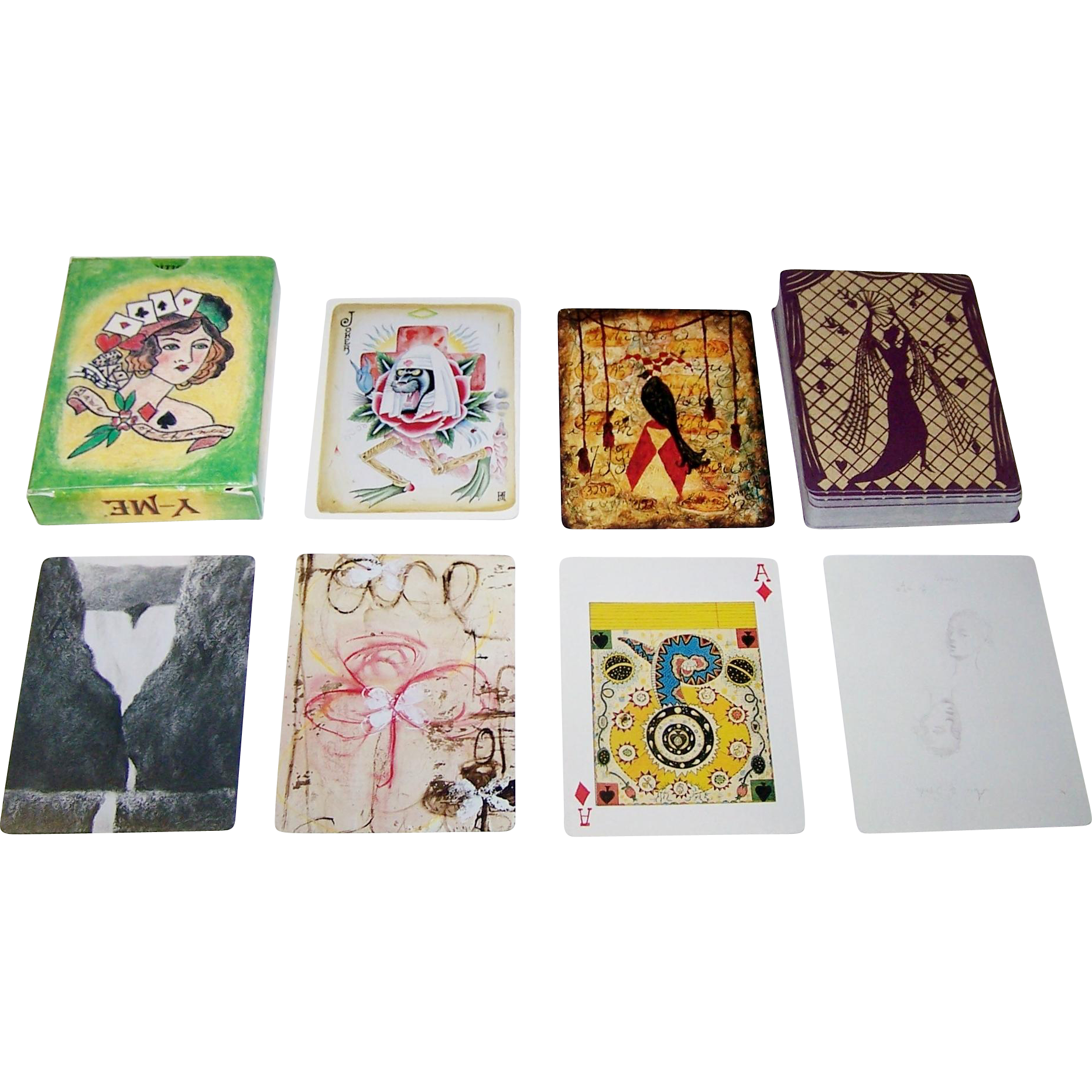 "Y-ME National Breast Cancer Organization ""A Game of Chance"" Playing Cards, 53 Different Artists, Hollis Sigler Organizer, Printworks Gallery, c.1997"