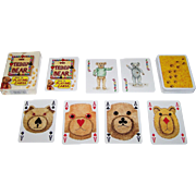 "Carta Mundi ""The Teddy Bear Pack of Playing Cards,"" Transformation Playing Cards, Andrew Jones Art Publisher, Peter Wood Designs, c.1994"