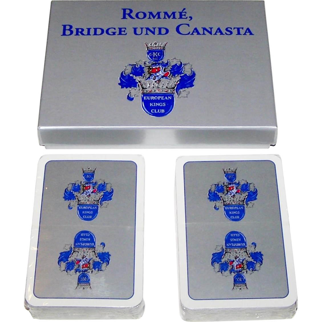 "Double Deck ASS ""European Kings Club"" Playing Cards, Standard Berlin Pattern, c.1992"