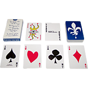 "Carta Mundi ""La Blanche"" Playing Cards, for Promo-Quebec, Friedland of Paris Publisher, Normand Hudon Designs, c.1960's (?)"