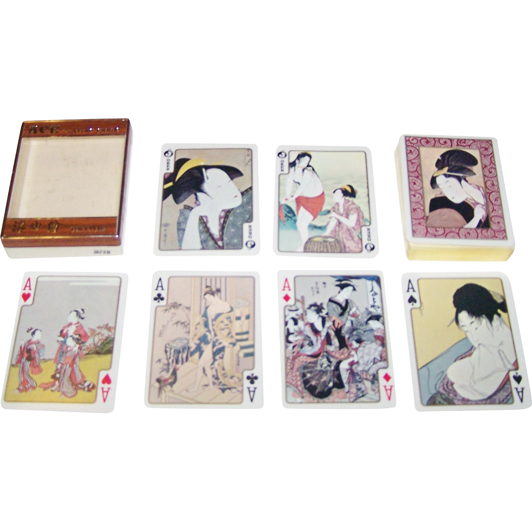 "Ace ""Ukiyo-e"" Playing Cards, c.1953"