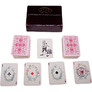 """Double Deck Dondorf No. 26 """"Kinder Patience"""" Patience Playing Cards w/ Custom Box, Children Court Cards, c.1925"""