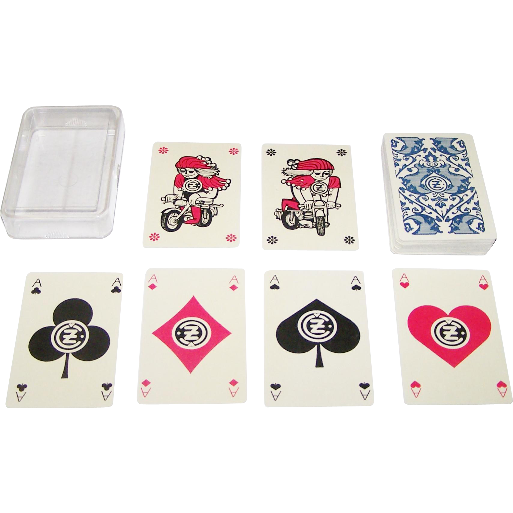 """Kolin """"Česká Zbrojovka"""" Playing Cards, Česká Zbrojovka Firearms Manufacturer, Artist Unknown, c.1970"""