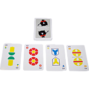 "Hächler Söhne ""Brunner Möbel"" (""Brunner II"") Jass Playing Cards, André Stehlé Designs, c.1965"