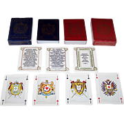 "Twin Decks Editions Dusserre (Boechat Frères) ""Jeu Imperial – Napoleon III"" Playing Cards, c.1987 ($15/ea. separate)"
