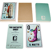"Il Meneghello ""Le Calzature Fantastiche"" (""The Fantastic Shoes"") Major Arcana Tarot Cards, Osvaldo Menegazzi Designs, Signed Ltd. Ed. (409/1600), c. 1980"