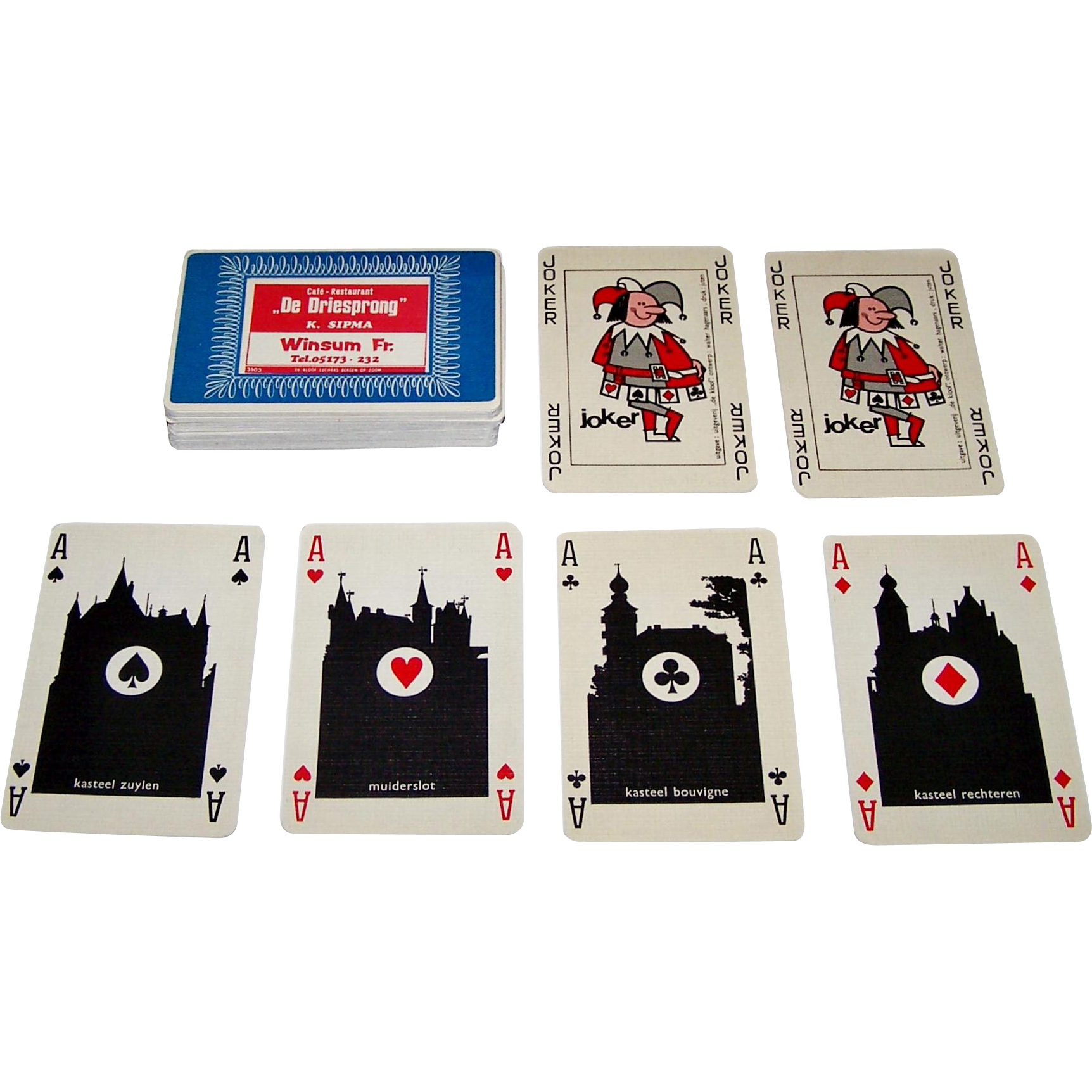 "Drukkerij Juten ""De Kloof"" Playing Cards, Walter Hagenaars Designs, c.1969"