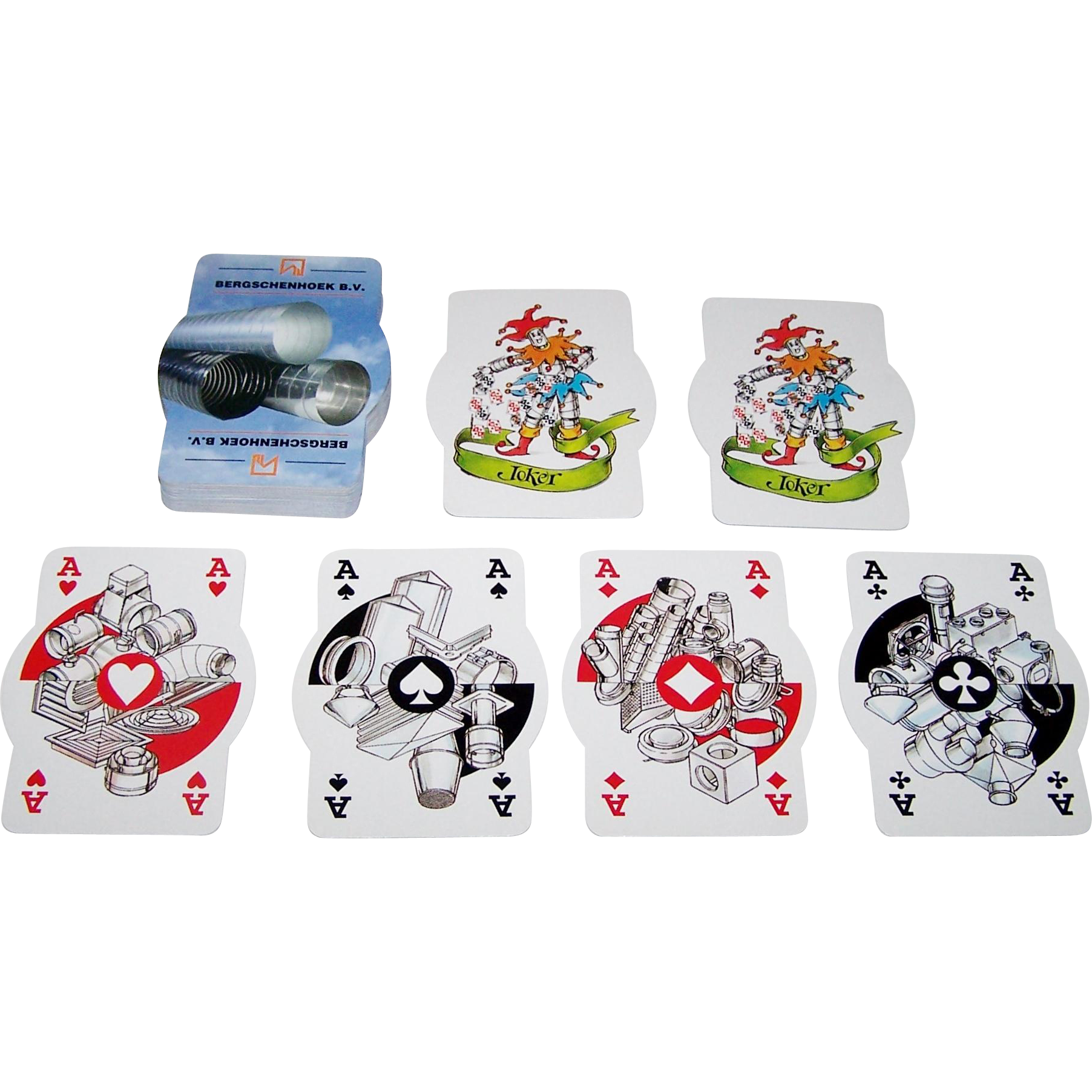 "Drukkerij Twigt ""Bergschenhoek"" Novelty Advertising Playing Cards, Jan de Borst Designs, Ltd. Ed. (___/5000)"