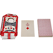"Leonard Bierman's ""Quadrilato No. 44"" Playing Cards, For Tunisia, c.1950"
