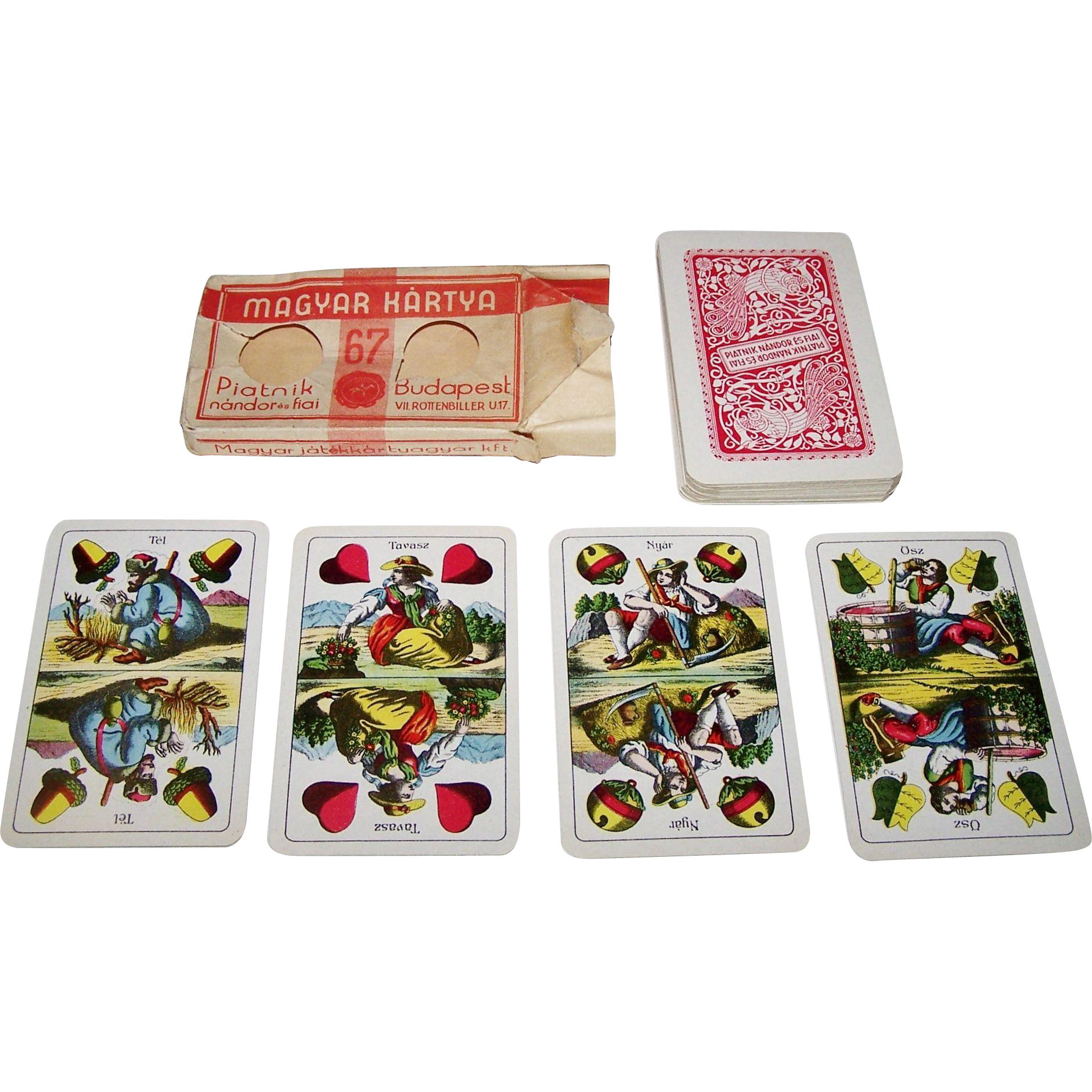 "Piatnik Nandor Es Fiai (Piatnik Hungary) ""William Tell"" Playing Cards, c.1940s"