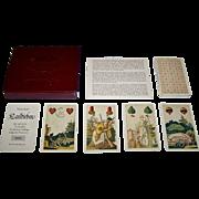"""Berlin Spielkarten Fabrik """"Landleben"""" (""""Country Life"""") Skat Playing Cards, Reprint of Christian August Muller (1835), Ltd. Ed. 0000/2000, 1978"""