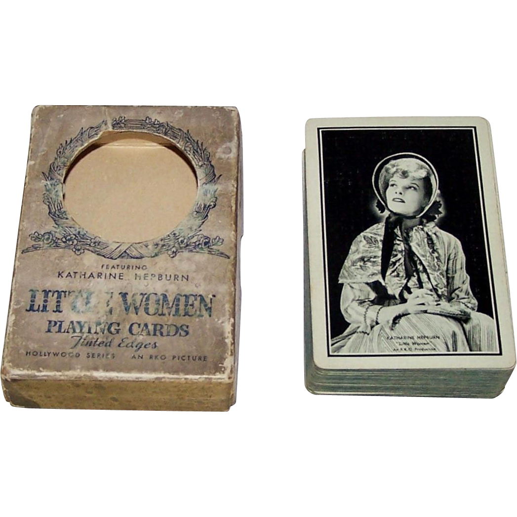 "Western ""Katherine Hepburn Little Women"" Playing Cards (52/52, NJ), Hollywood Series, c.1933"