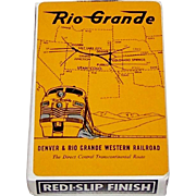 "Brown & Bigelow ""Denver & Rio Grande Western Railroad"" Railroad Playing Cards, c. 1950"