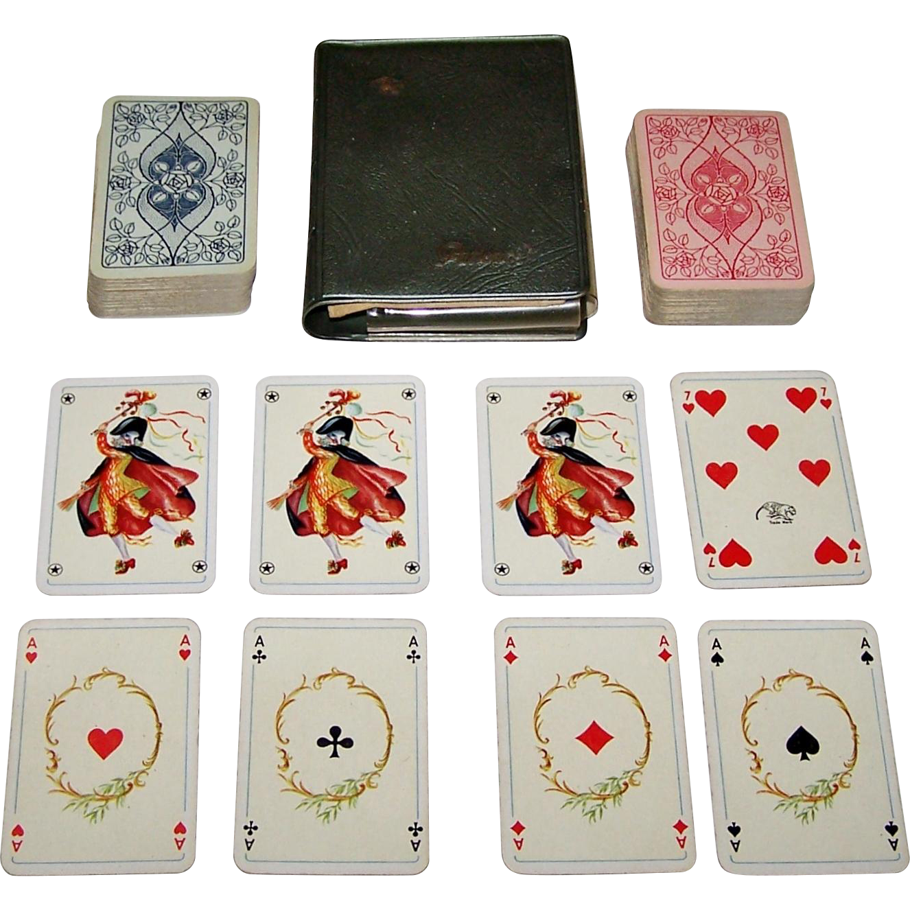 Double Deck ASS Patience Playing Cards, Non-Standard Courts, c.1950s